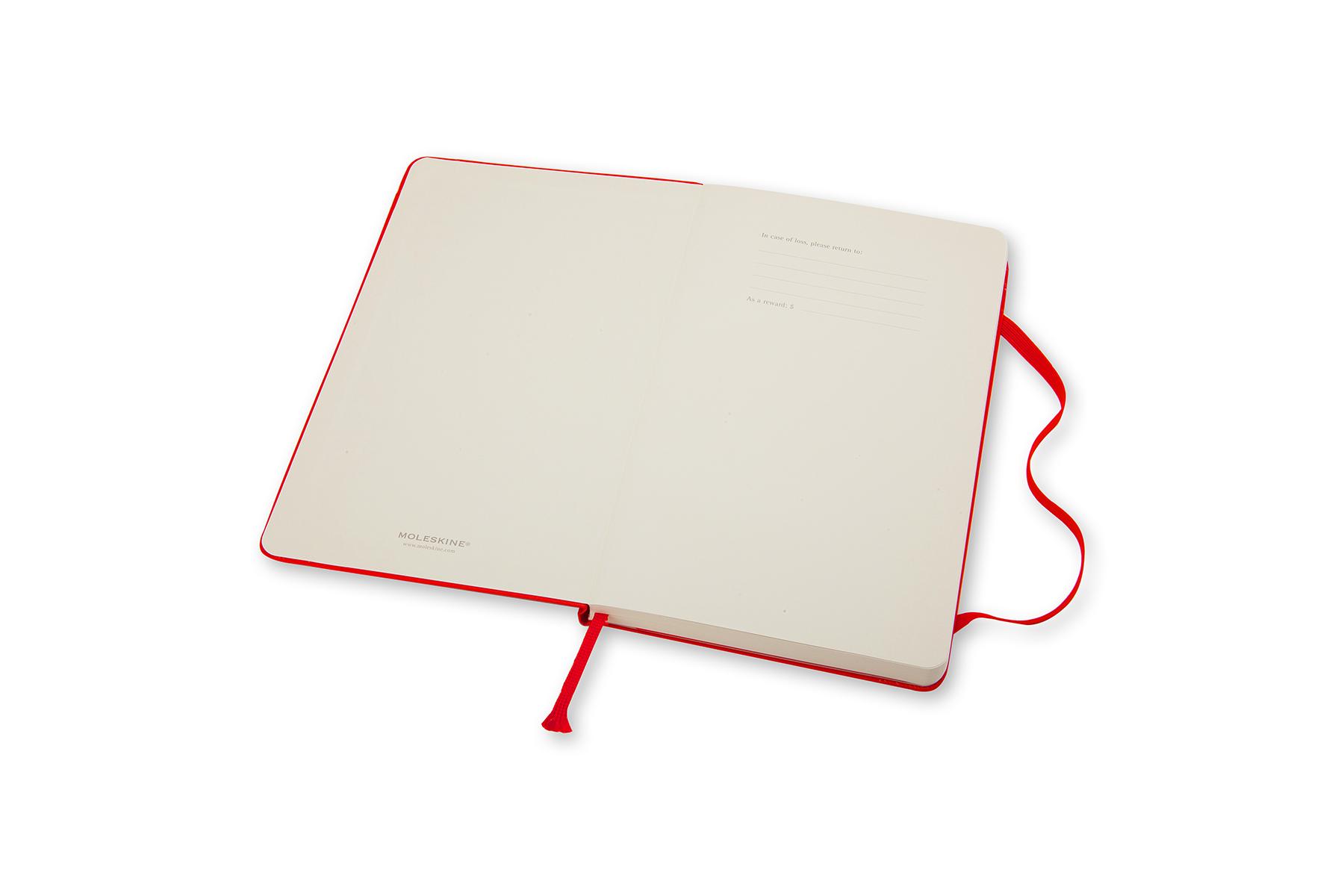 Nieuw Moleskine Notebook Large Gelijnd 13x21cm Rood - Papierwaren | AVA.be HX-09