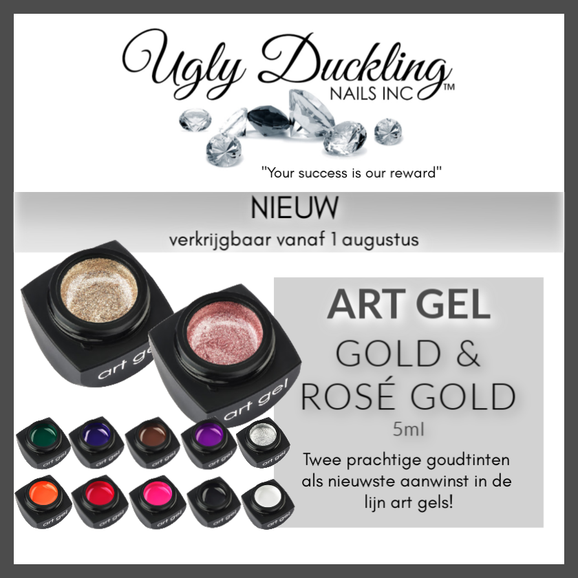 NEW Ugly Duckling Art Gel - Goud & Rosé Goud