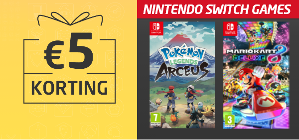 Korting op Nintendo Switch games