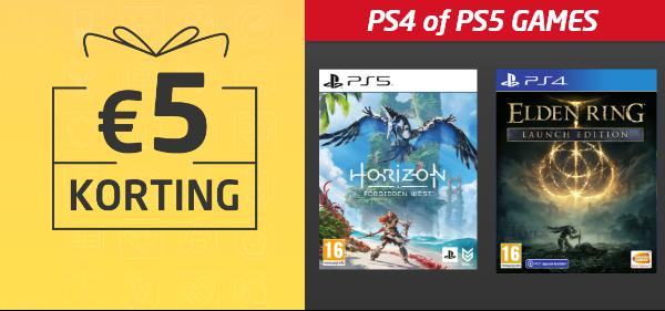Korting op PS4 en PS5 games